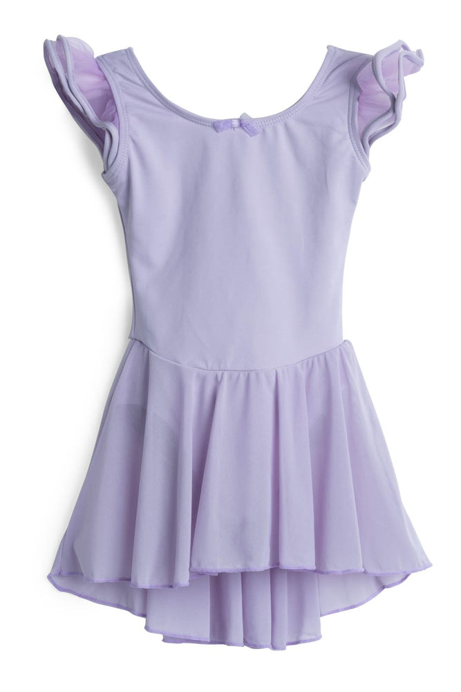 Elowel Kids Girls Flutter Leotard Dress  (Size 2-14 Years) Lavender