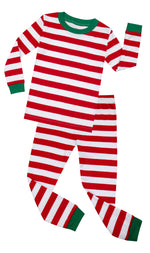 Elowel Boys Girls Christmas Red & White 2 Piece Kids Pajamas Set 100% Cotton 6M-12Y