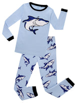 Elowel  Boys Whale 2 Piece Pajama Set 100% Cotton (Size6M-8Y)