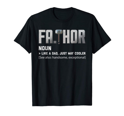 Cool Fathor Like Dad Just Cooler Papa Dad Fathers Day Men's T-Shirt Black