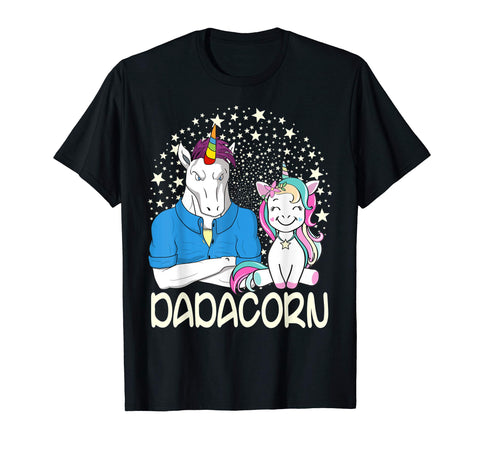 Trending Dadacorn Unicorn Dad And Baby Fathers Day Men's T-Shirt Black