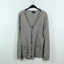Laden Sie das Bild in den Galerie-Viewer, A.P.C. Paris Cardigan Gr. XL braun weiß gestreift