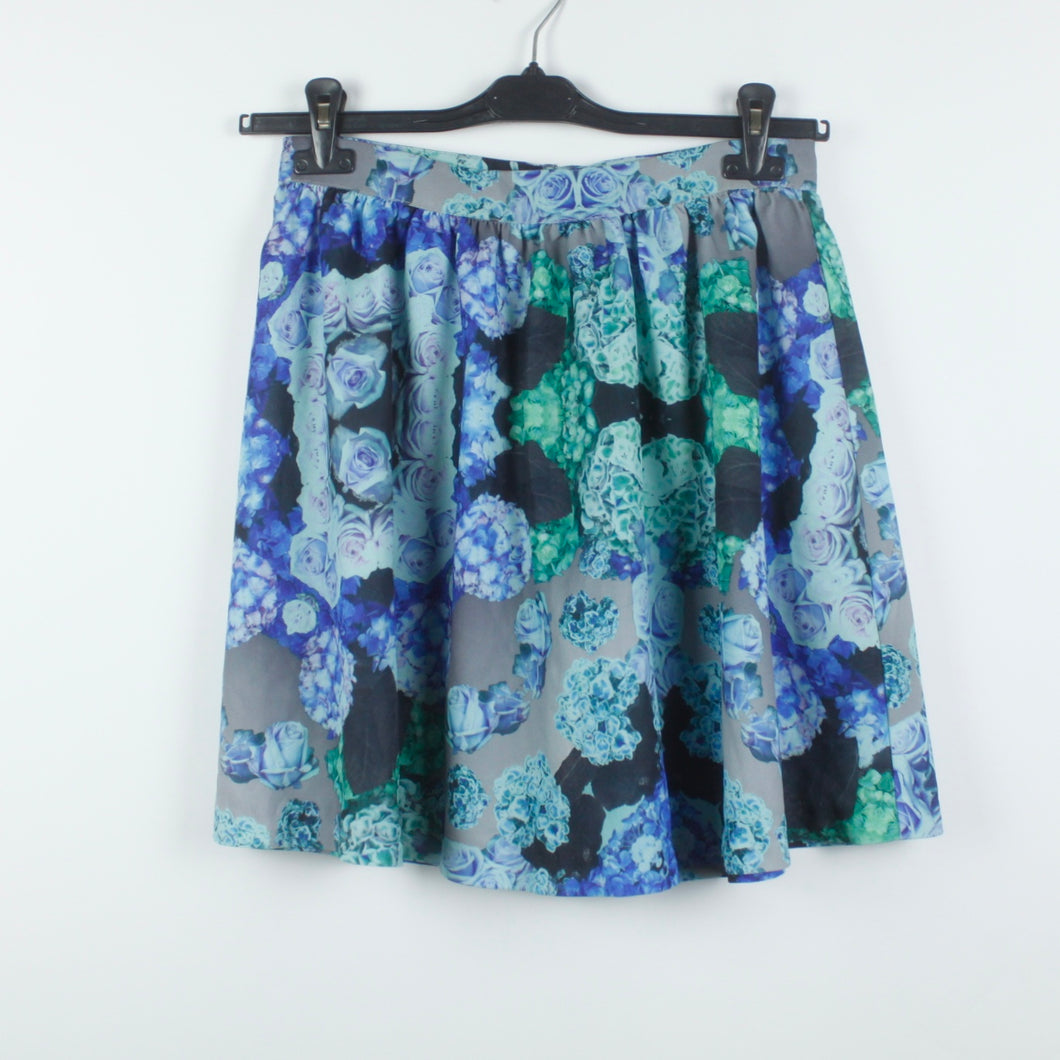 MONKI High Waist Rock Gr. 38 geblümt