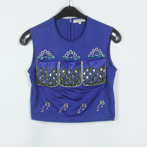 Opening Ceremony Cropped Top Gr. XS blau