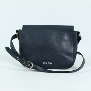 MIU MIU Ledertasche blau - Vitello Phenix Madras