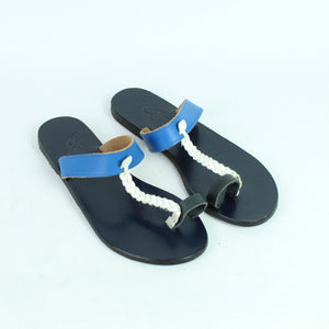 ANCIENT GREEK Sandalen Gr. 39 blau Leder