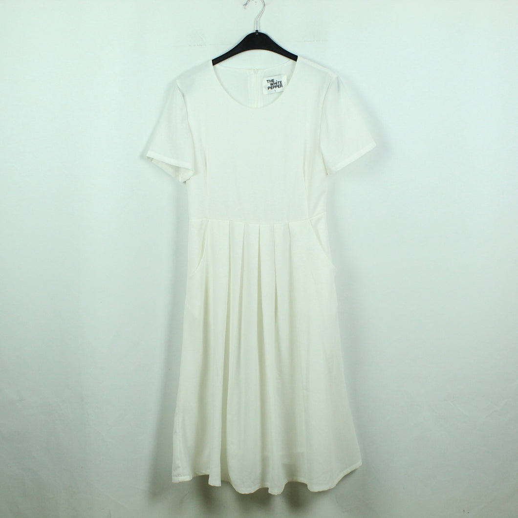 THE WHITE PEPPER Midikleid Gr. L weiß