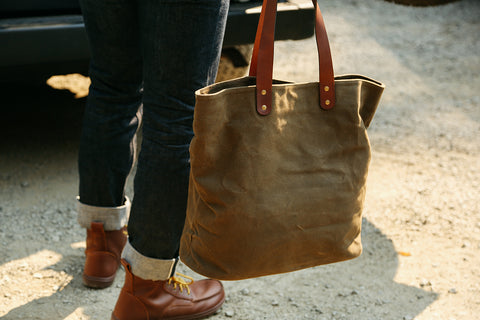 Waxed Canvas Tote Bag from Rogue Industries