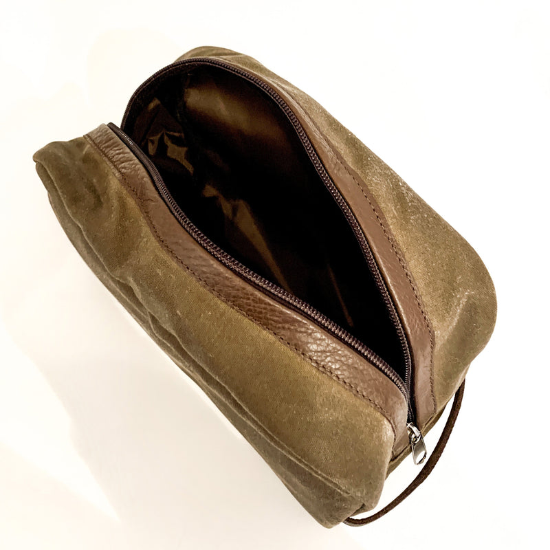 Waxed Canvas Dopp Kit