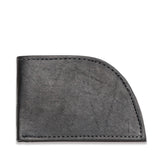 Rogue Front Pocket Wallet in American Bison Leather - Black - 1