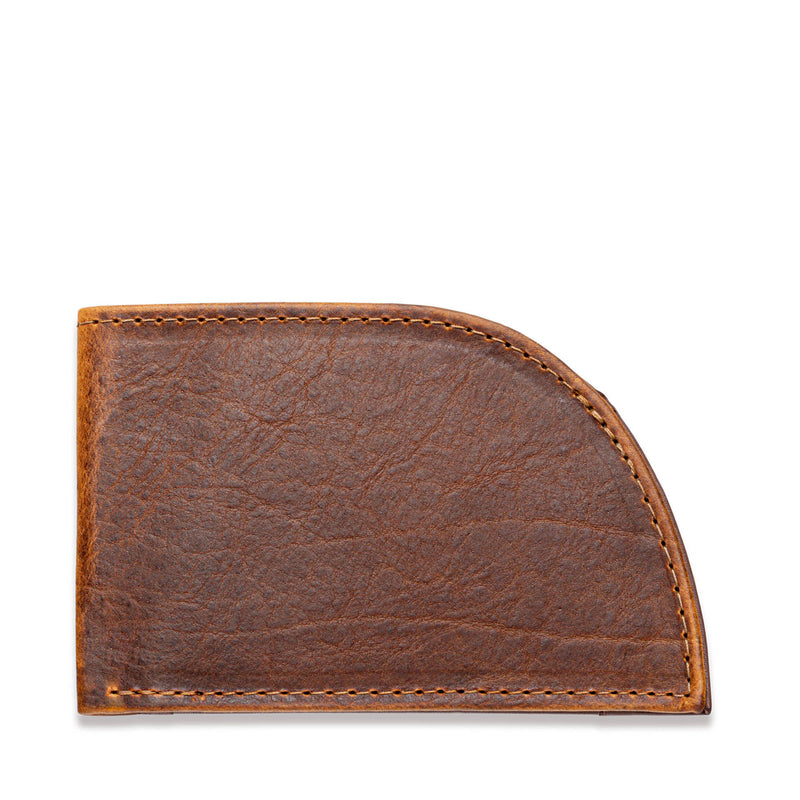 Rogue Front Pocket Wallet in American Bison Leather - Brown - 1