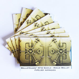 RFID Blocking Credit Card Sleeves - Gold Vault