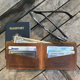 American Bison Leather Wallet - Rogue Industries - with Passport