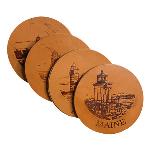 Maine Lighthouse Coaster Set