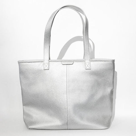 Market Street Zippered Tote in Vegan Leather