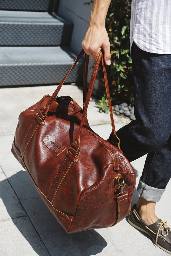 Mount Blue Leather Duffle