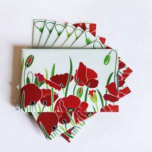 RFID Blocking Credit Card Sleeves - Poppies