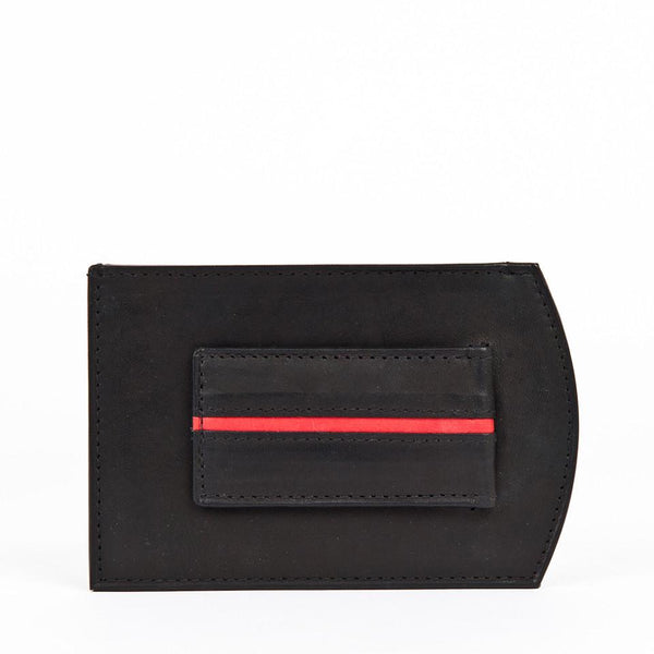 Money Clip Wallet, Red Line