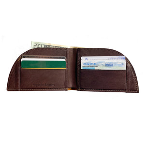 Rogue Front Pocket Wallet Allagash Tan Open