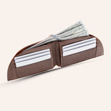 Rogue Front Pocket Wallet in American Bison Leather - Brown - 2