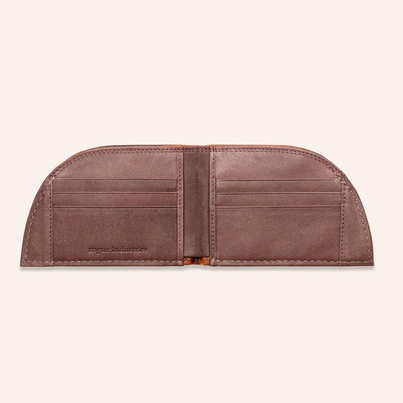 Rogue Front Pocket Wallet in Moose Leather - Open 3