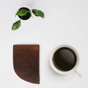 Rogue Front Pocket Wallet in Moose Leather Flat Lay
