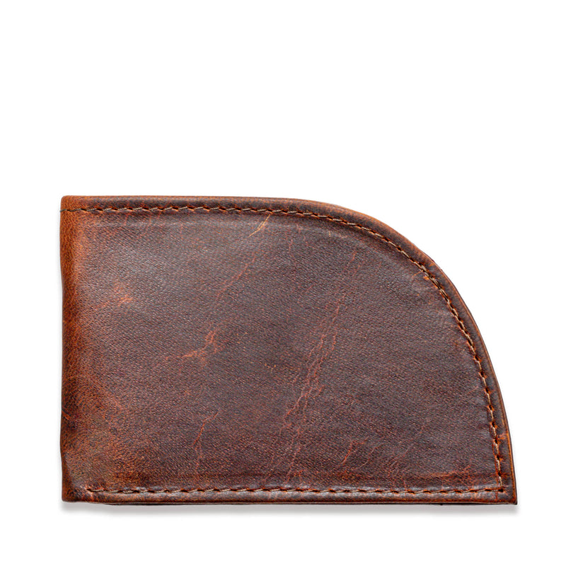 Rogue Front Pocket Wallet in Moose Leather - Front