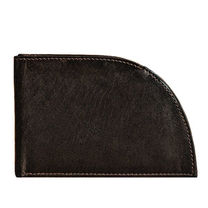 Classic Rogue Front Pocket Wallet in Dark Brown Leather from Rogue Industries