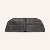 Rogue Front Pocket Wallet in American Bison Leather - Black - 4