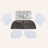 Rogue Front Pocket Wallet in American Bison Leather - Black - 3