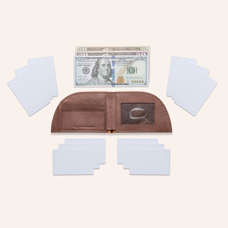 Rogue Front Pocket Wallet in Moose Leather - Open 5