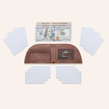 Rogue Front Pocket Wallet in American Bison Leather - Brown - 6