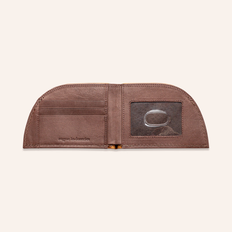Rogue Front Pocket Wallet in American Bison Leather - Brown - 7