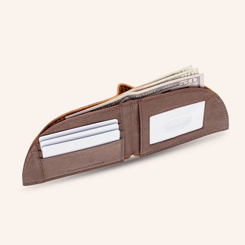 Rogue Front Pocket Wallet in Moose Leather - Open 4