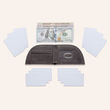 Rogue Front Pocket Wallet in American Bison Leather - Black - 6