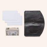 Minimalist Spartan Wallet in Bison - Black - With Cash