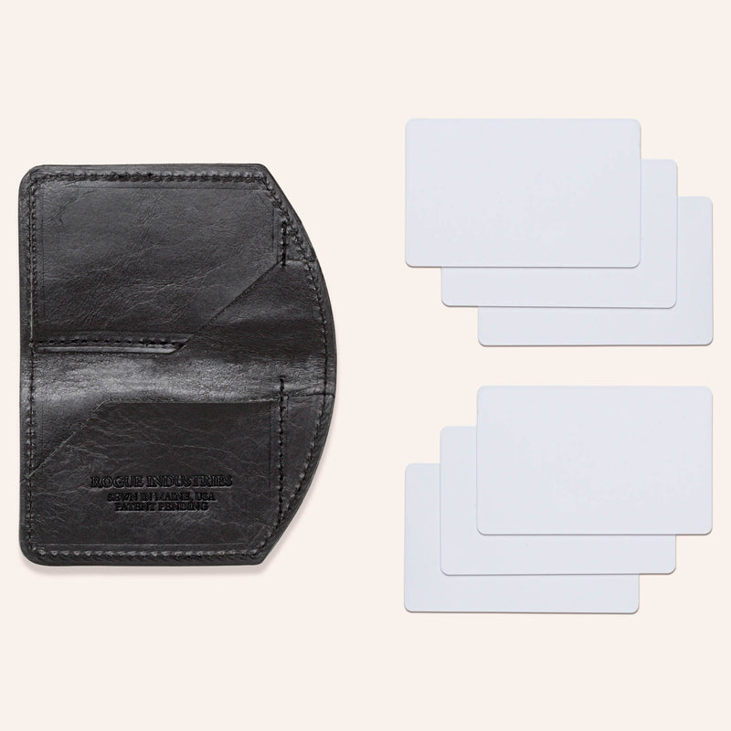 Minimalist Spartan Wallet in Bison - Black - With Cards