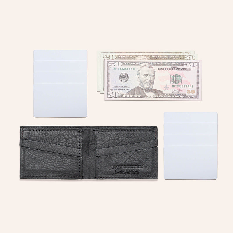 American Bison Leather Wallet - Rogue Industries - Flat Lay