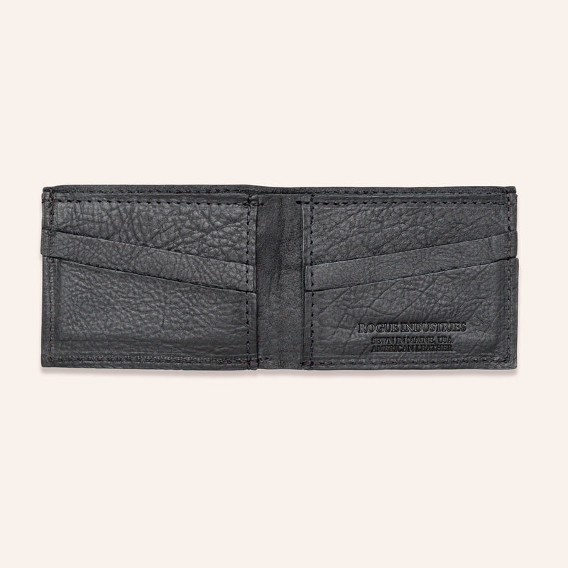American Bison Leather Wallet - Rogue Industries - Empty