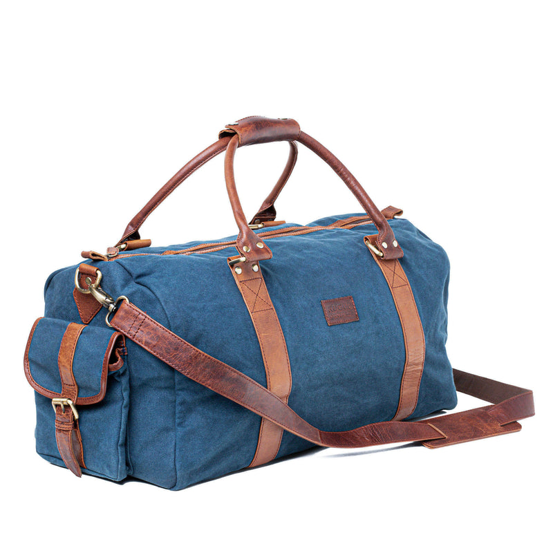 Waxed Canvas Duffle Bag from Rogue Industries - Navy - 1