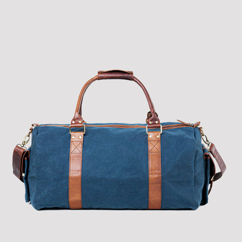Waxed Canvas Duffle Bag from Rogue Industries - Navy - 3
