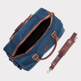 Waxed Canvas Duffle Bag from Rogue Industries - Navy - 4