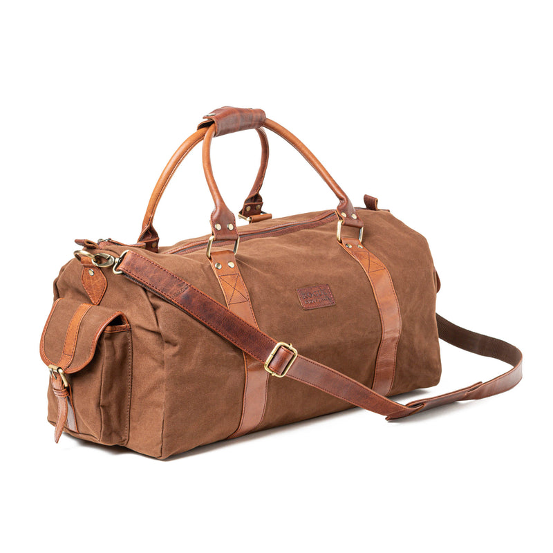 Waxed Canvas Duffle Bag from Rogue Industries - Brown - 1