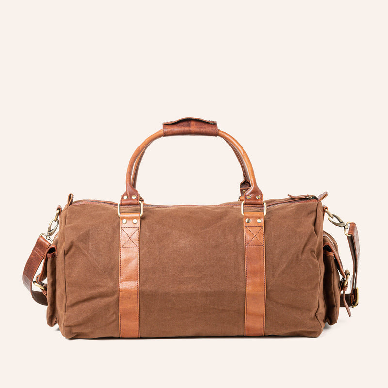 Waxed Canvas Duffle Bag from Rogue Industries - Brown - 3