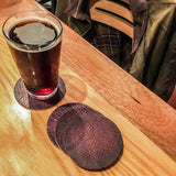 Salmon Leather Coaster Set from Rogue Industries - 1