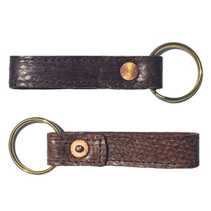 Salmon Leather Key Chain from Rogue Industries