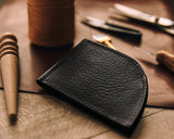 Black Buckskin Rogue Front Pocket Wallet in Workshop