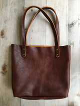 Fore Street Tote in Bison Leather