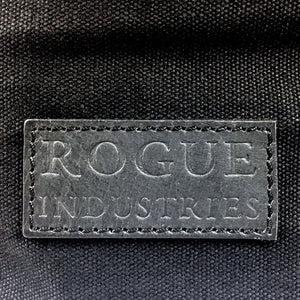 Waxed Canvas and Leather Tote from Rogue Industries - Black 2