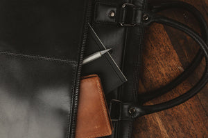 West End Slim Leather Briefcase